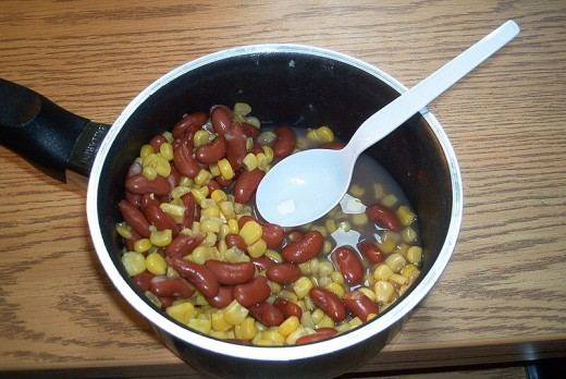 Succotash is a very healthy dish made with fresh corn kernels and beans. There are many variations.