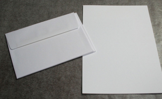 Envelopes and cardstock cards