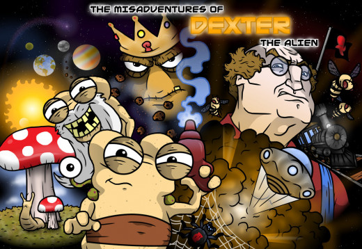The first issue of The Misadventures of Dexter the Alien