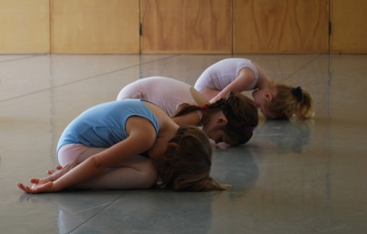 Child pose or balasana is the best way to relax in between yoga poses.