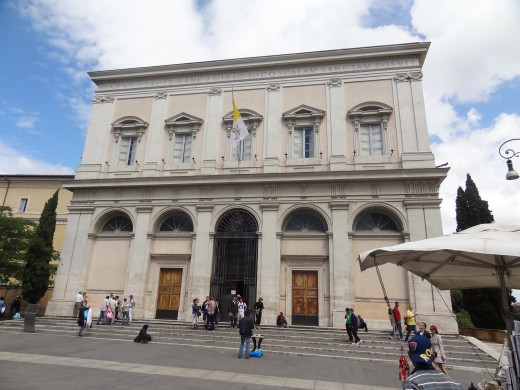 Front entrance to the Scala Sancta.