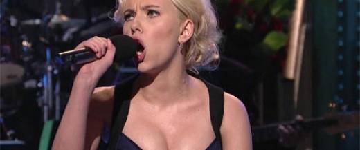 Scarlett Johansson performing