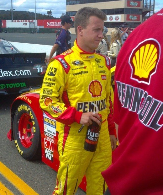 Allmendinger's run in the #22 Shell/Pennzoil ended after a positive drug test