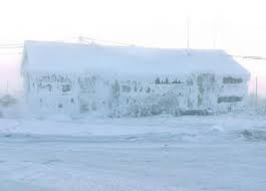 Extreme weather conditions in Oymyakon, Siberia where the people have adapted to the cold.
