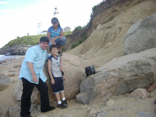 Matty, mom and me at Montauk point
