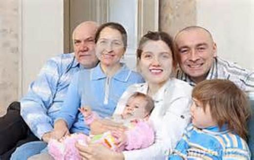 3 generations of caucasians