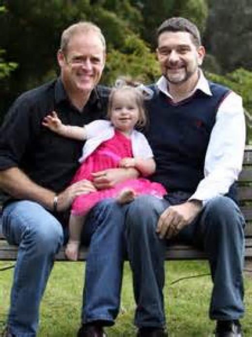 same sex male couple family unit
