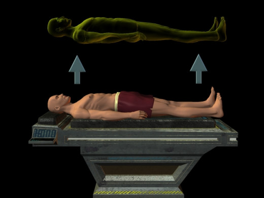 Depiction of an astral projection