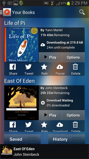 Audiobooks.com lets you stream the latest bestsellers instantly at a big discount off the cover price.