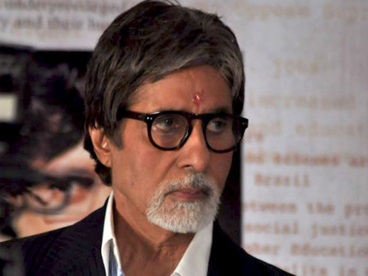 Amitabh Bachchan at Amitabh Bachchan, Prakash Jha and Manoj Bajpayee promoting Arakshan at Mehboob Studios, Bandra.