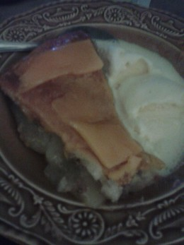 Apple Pie with Cheddar Cheese and Vanilla Ice Cream!