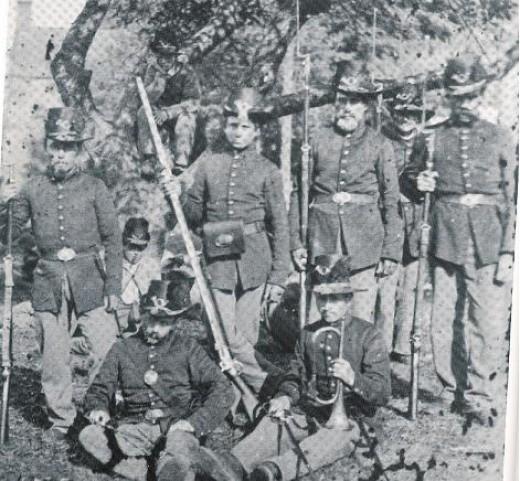 Members of a Regiment in the U.S. Regulars