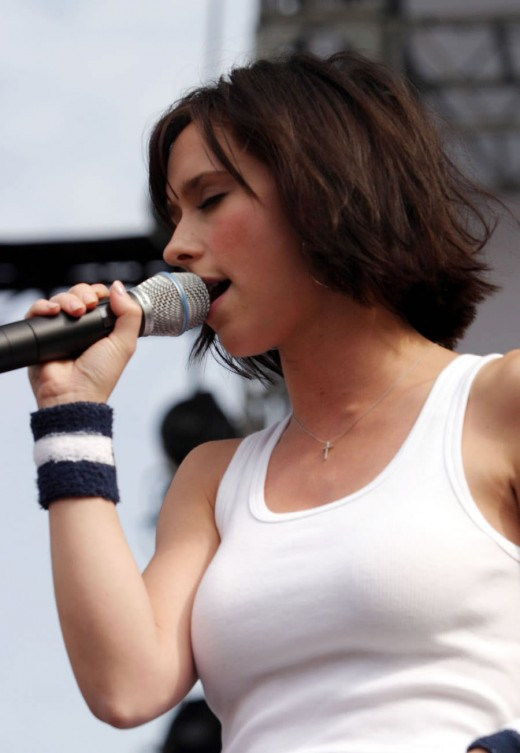 Jennifer Love performing