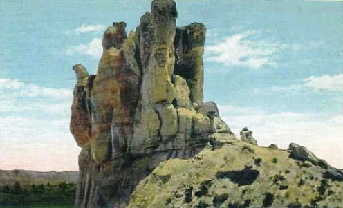 US Navy petroleum field reserves were located near this rock formation in Wyoming. They became the center of a scandal.
