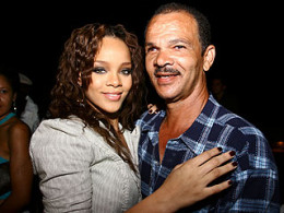 Rihanna with her father Ronald Fenty