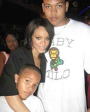 Rihanna with her two brothers