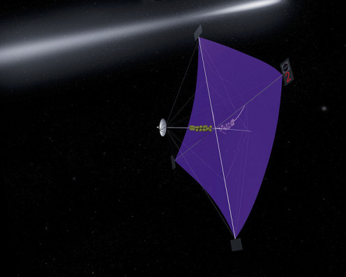 Mock-up drawing of a solar sail