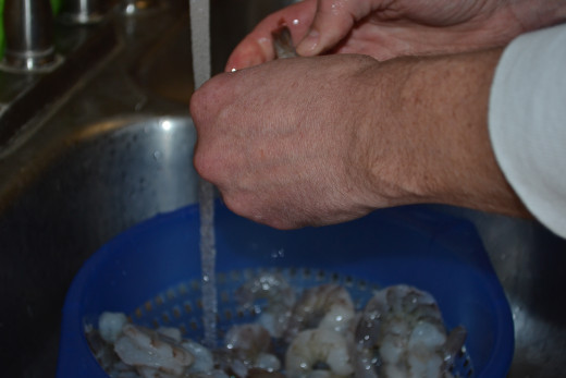 Peel your shrimp.