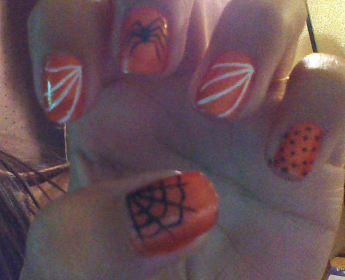 Nothings says Halloween like spider webs and Orange!