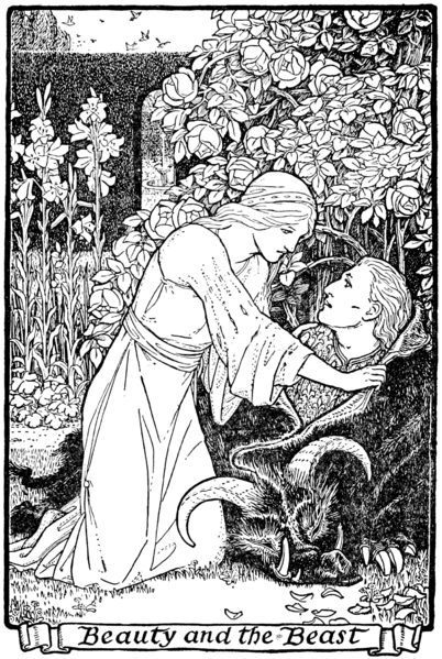 Crane beauty5.jpg  CC-PD-Mark  illustration at page 39 in Europa's Fairy Book.jpg Author: James Jacobs 1916