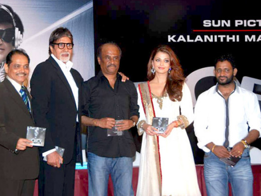 Amitabh bachchan and the team of Robot.