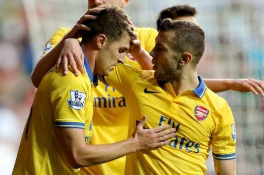 Bruise brothers: Ramsey and Wilshere have both overcome major injuries.
