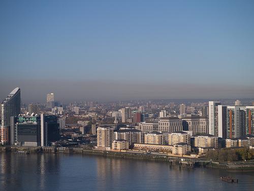 Smog over city.