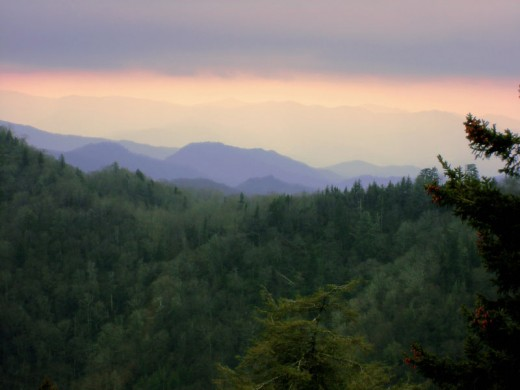 The serene and beautiful Great Smoky Mountains.