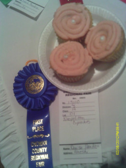 Blue Ribbon Winner:  Neapolitan Delight Cupcakes