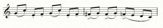 An F sharp (accidental) is used, and then restored to F using a natural sign