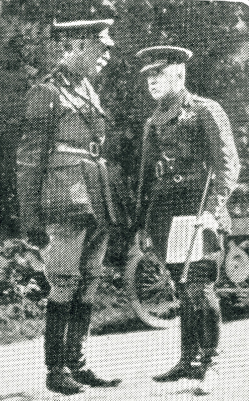 General French photographed with one of his staff officers at the Front.