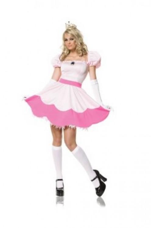 Leg Avenue Women's Pink Princess Costume, Pink, Small, Short Dress