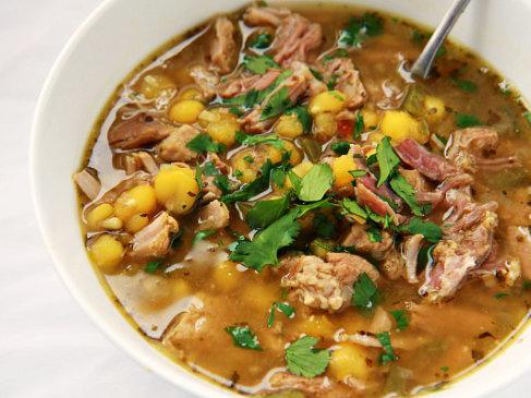 Posole (hominy soup)