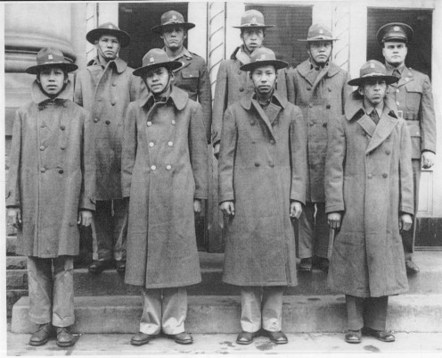 Comanche men in the 4th Signal Corps, WWII