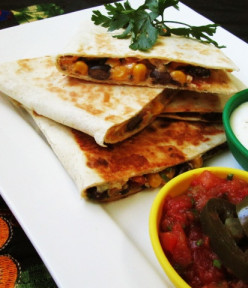 The Best Ever Black Bean and Corn Quesadillas