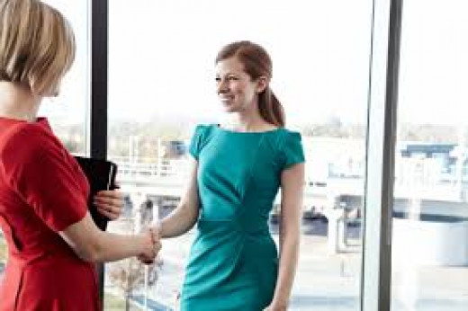Greet the recruiter with a smile and a firm handshake.