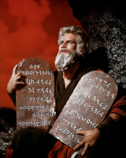 Charlton Heston in his role as Moses, the Lawgiver