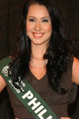 Karla Henry, 2008. The first Miss Earth from the Philippines