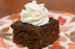 Gingerbread Cake with Whipped Topping