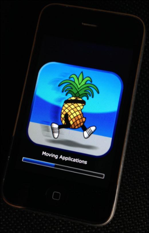 An iPhone smartphone