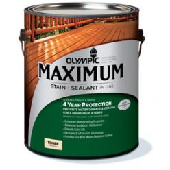 "I used Olympic 1- Gallon(S) Naturaltone Semi-Transparent Exterior Stain in ""Cedar"""