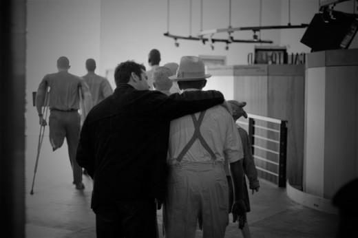 Photo of my son from a recent trip the MLK exhibit in Atlanta, taken with my Canon 30D digital camera.
