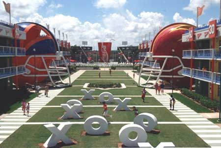 Larger than life football themed play area at All-Star Sports
