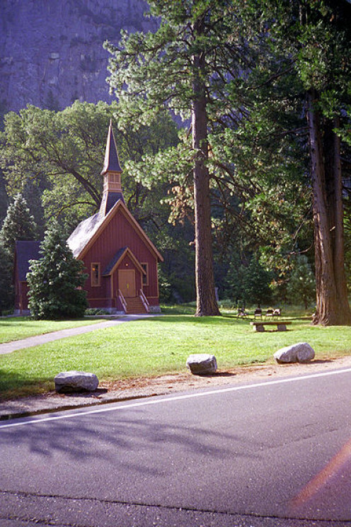 Yosemite Church, Yosemite Valley, Yosemite National Park, California, USA.
