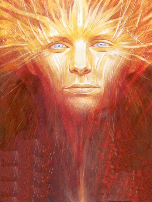 Lugh the god of light, latterly king of the Tuatha De Danann - read about him and the Gaels below