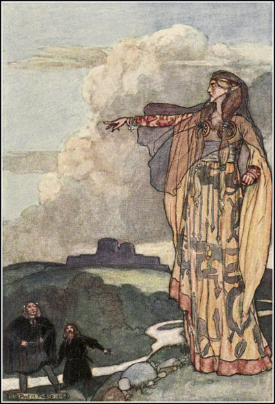 The goddess Macha - wife of Nemedh, leader of the third migration into Ireland