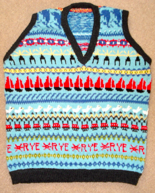 The Finished Vest: Front
