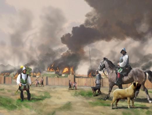 De Soto Burns Mabila, on October 1540