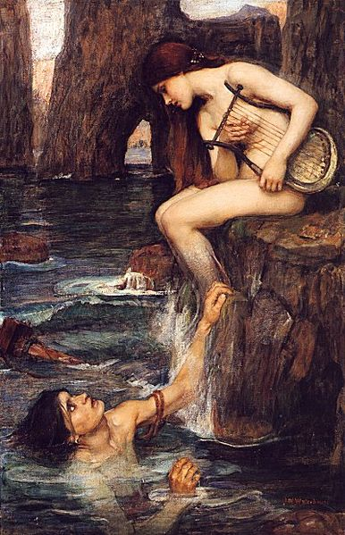 The Sirens were thought to be mermaids, but were also said to have wings like birds.