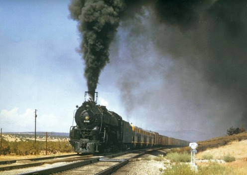 Santa Fe steam train.